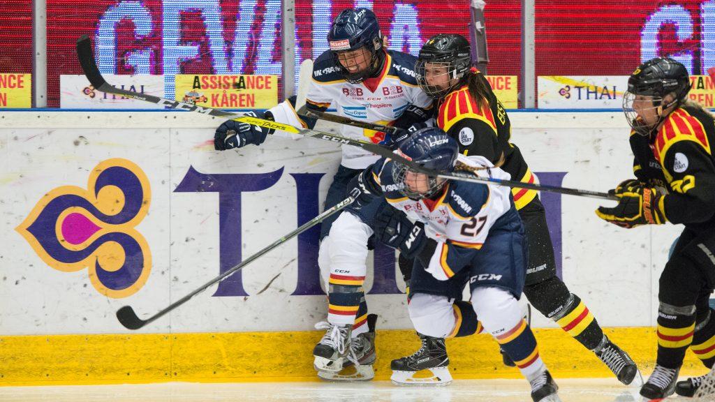 Molly Engstrom under matchen mot Brynäs 170114